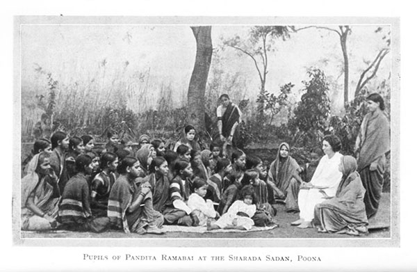 Ramabai with some of her pupils